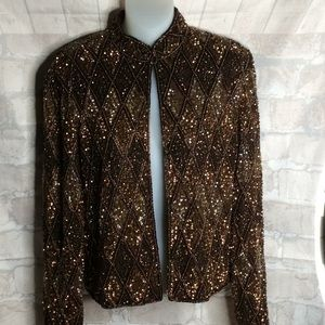 Beautiful Adrianna Papell Evening Jacket.
